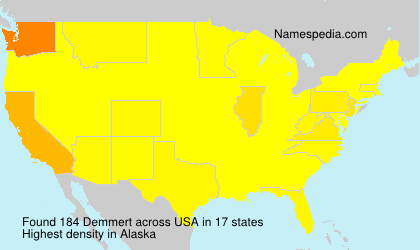 Surname Demmert in USA