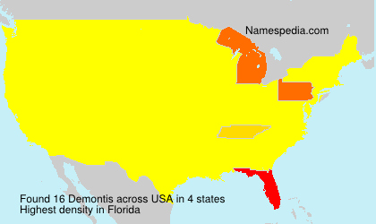 Surname Demontis in USA