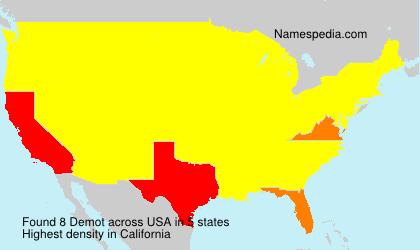 Surname Demot in USA