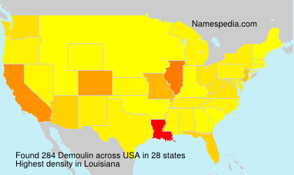 Surname Demoulin in USA