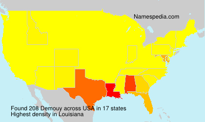Surname Demouy in USA