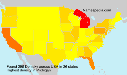 Surname Demsky in USA