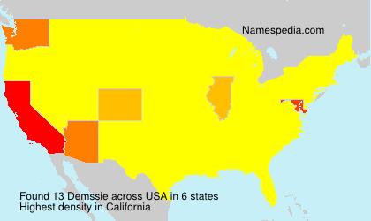 Familiennamen Demssie - USA