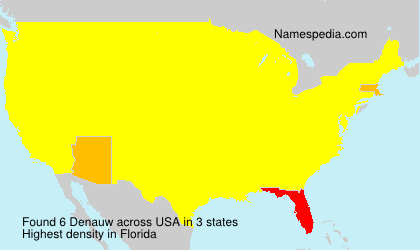 Surname Denauw in USA