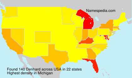 Surname Denhard in USA