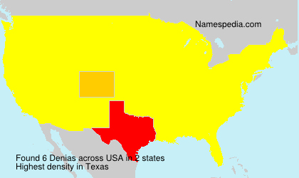 surname denias in usa