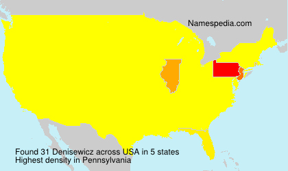 Surname Denisewicz in USA