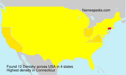 Familiennamen Denisky - USA