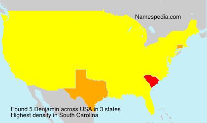 Surname Denjamin in USA