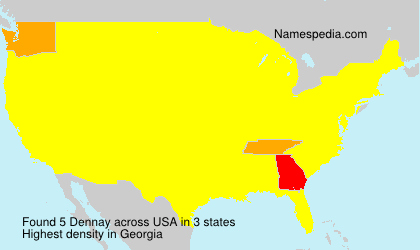 Surname Dennay in USA