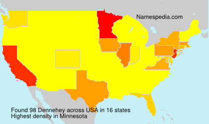 Surname Dennehey in USA