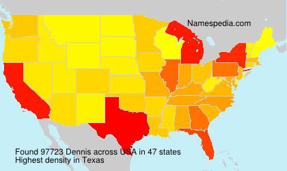 Familiennamen Dennis - USA