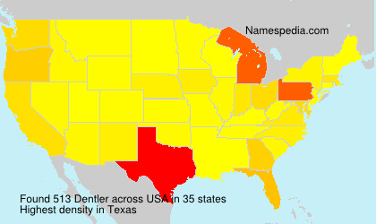 Surname Dentler in USA
