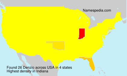 Familiennamen Denzio - USA