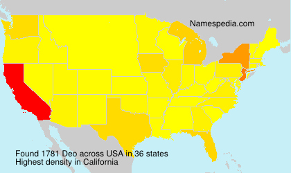Surname Deo in USA