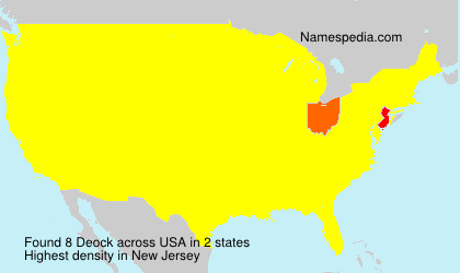 Surname Deock in USA
