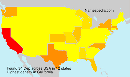 Surname Dep in USA