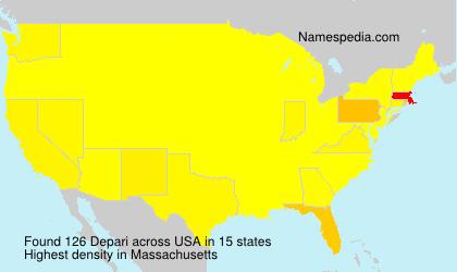 Surname Depari in USA