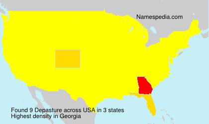 Familiennamen Depasture - USA