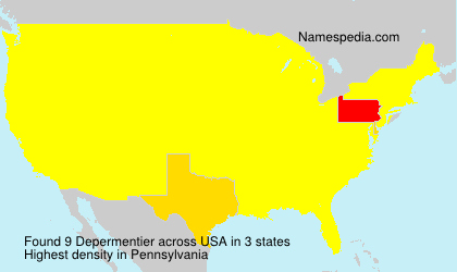 Surname Depermentier in USA