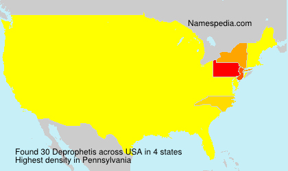 Surname Deprophetis in USA