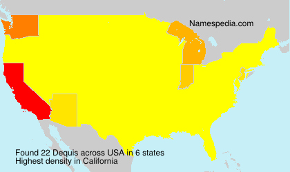 Surname Dequis in USA
