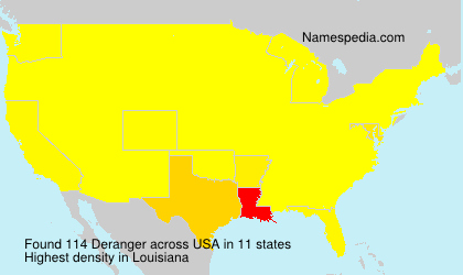 Surname Deranger in USA