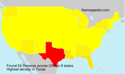 Surname Dereese in USA