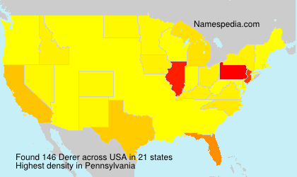 Surname Derer in USA