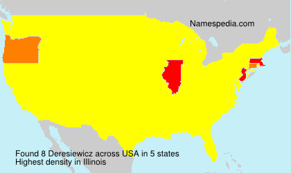 Familiennamen Deresiewicz - USA