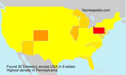 Surname Derewicz in USA