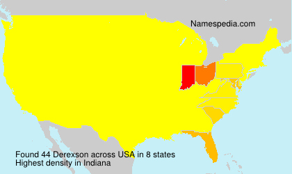 Surname Derexson in USA