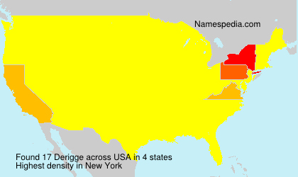 Surname Derigge in USA