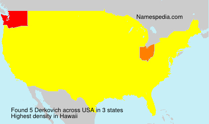 Surname Derkovich in USA