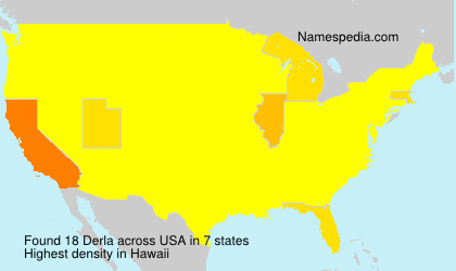 Surname Derla in USA