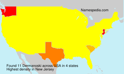 Surname Dermanoski in USA