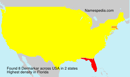 Surname Dermarkar in USA