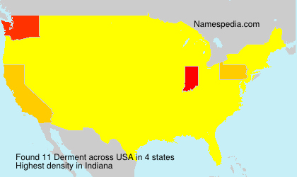 Surname Derment in USA