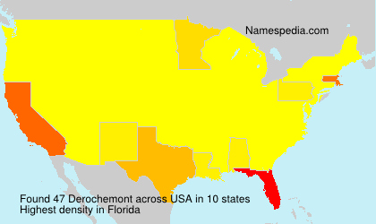 Surname Derochemont in USA