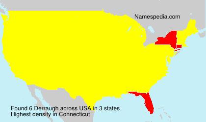 Familiennamen Derraugh - USA