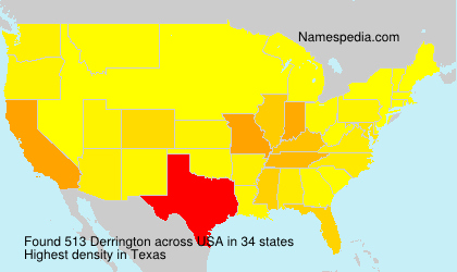 Surname Derrington in USA