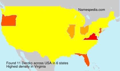 Familiennamen Derzko - USA