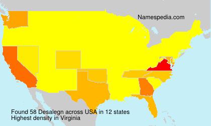 Familiennamen Desalegn - USA