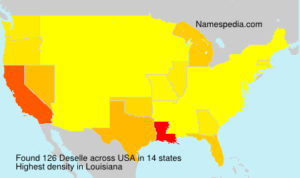 Surname Deselle in USA
