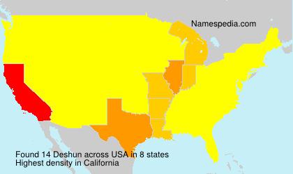 Familiennamen Deshun - USA