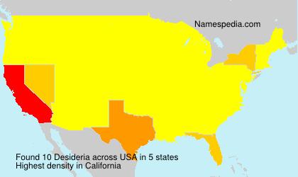 Familiennamen Desideria - USA