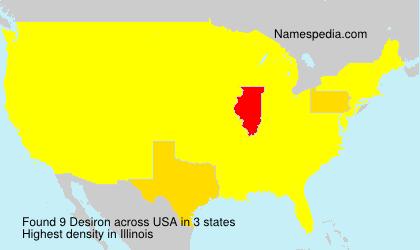 Surname Desiron in USA