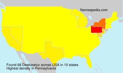 Surname Deskiewicz in USA