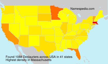 Surname Deslauriers in USA