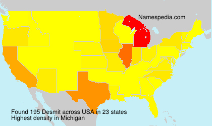 Surname Desmit in USA